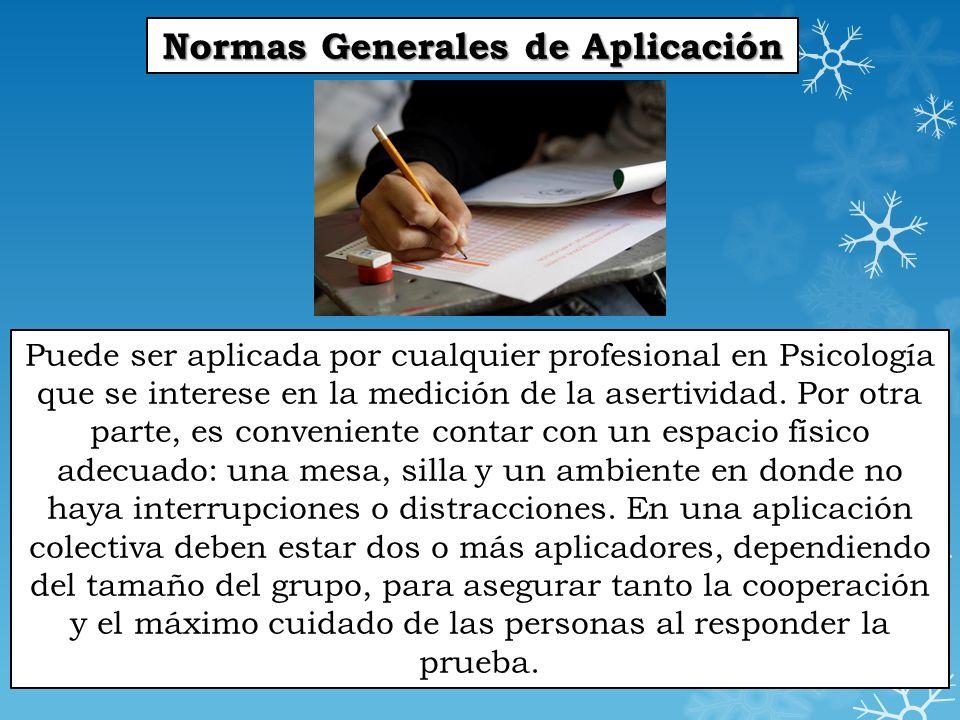 Normas Generales de Aplicación