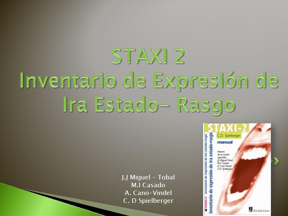 STAXI 2 Inventario de Expresión de Ira Estado- Rasgo