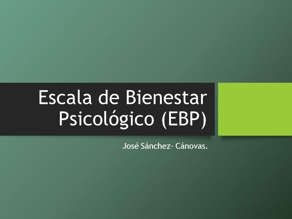 Escala de Bienestar Psicológico (EBP)