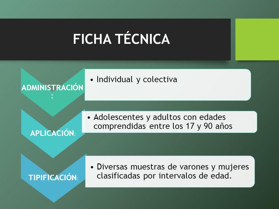 FICHA TÉCNICA Individual y colectiva