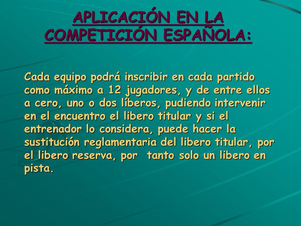 APLICACIÓN EN LA COMPETICIÓN ESPAÑOLA:
