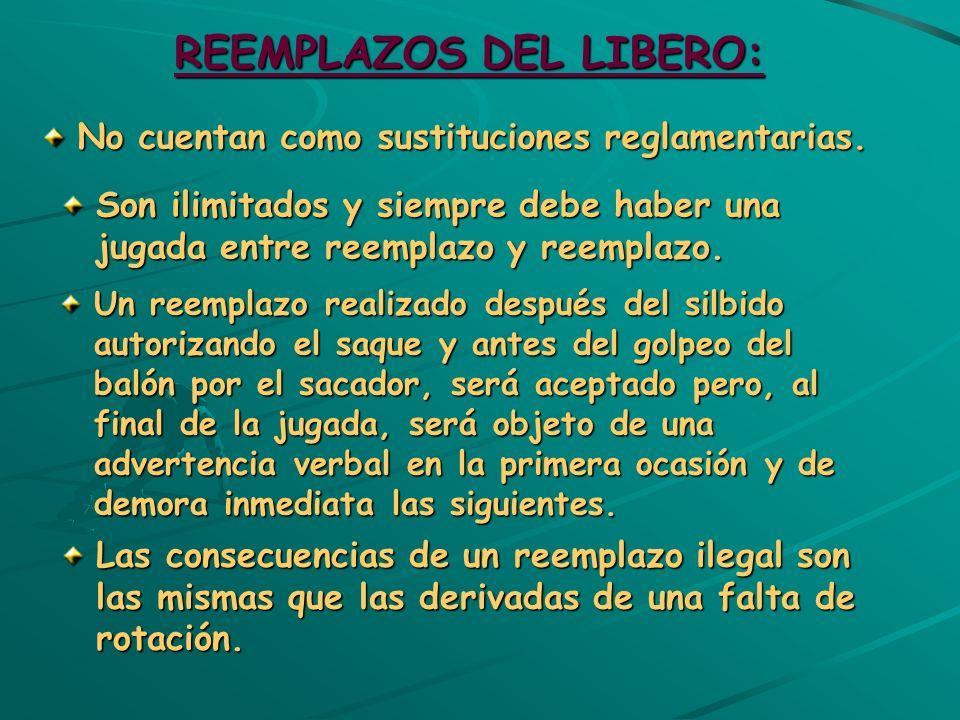 REEMPLAZOS DEL LIBERO: