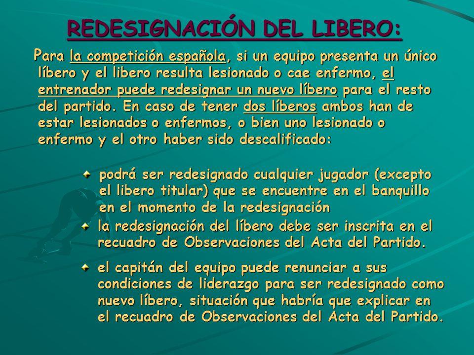 REDESIGNACIÓN DEL LIBERO: