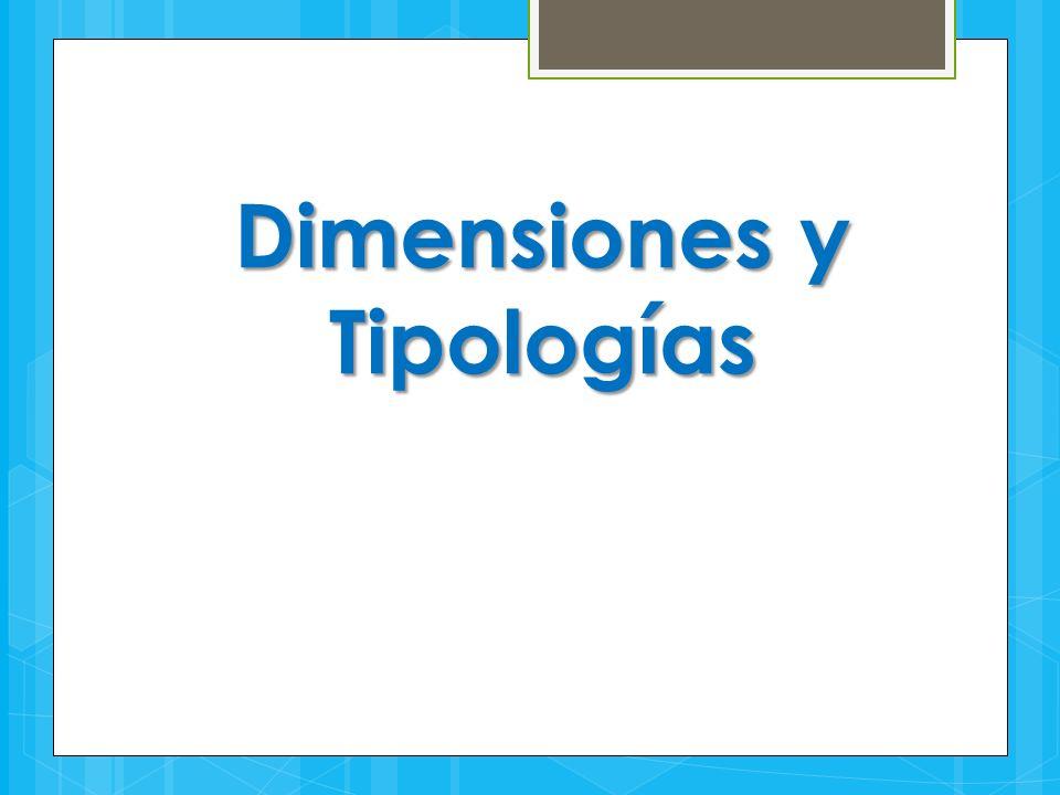 Dimensiones y Tipologías