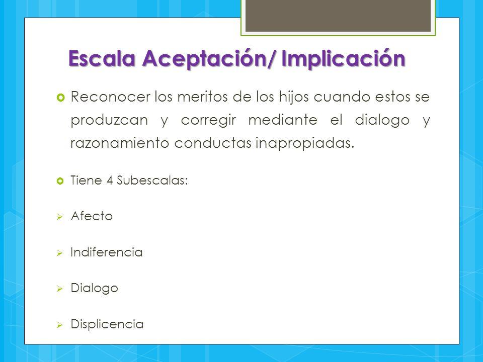 Escala Aceptación/ Implicación