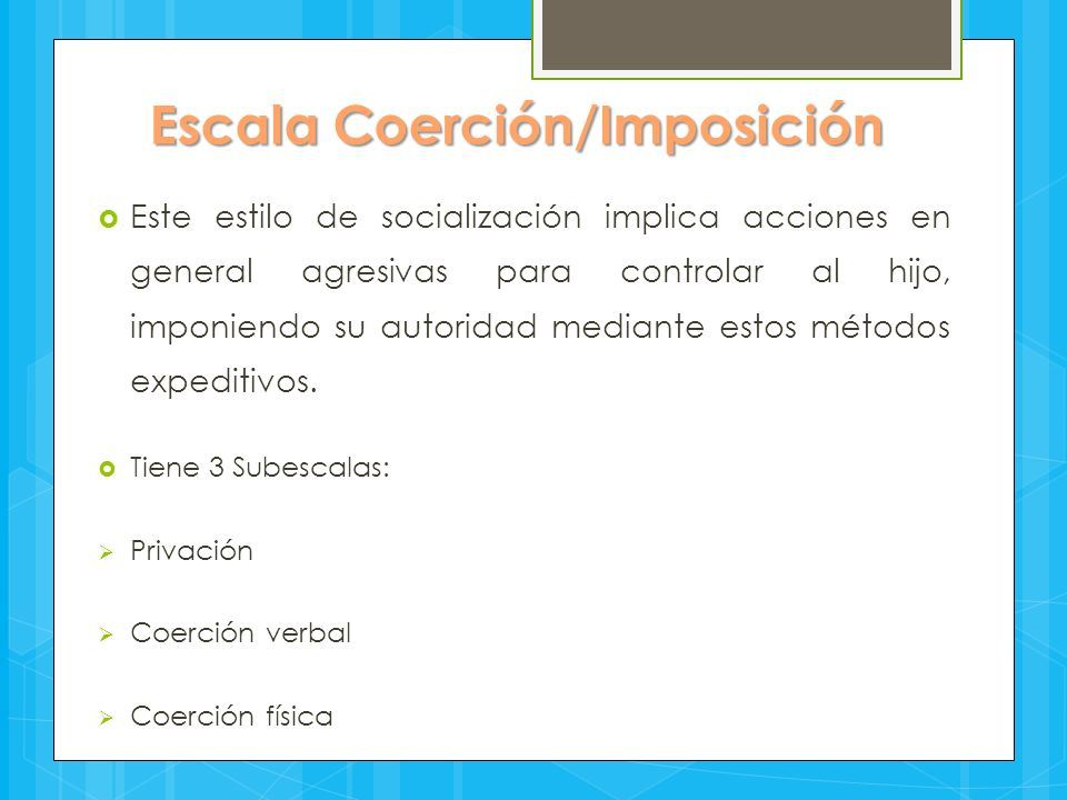 Escala Coerción/Imposición