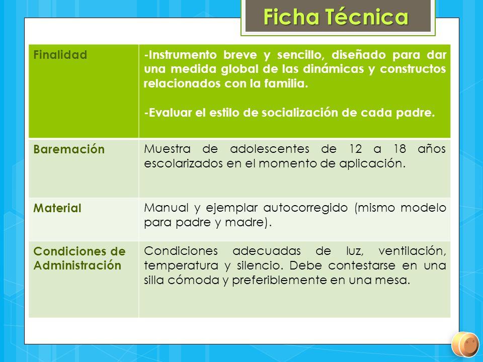 Ficha Técnica Finalidad