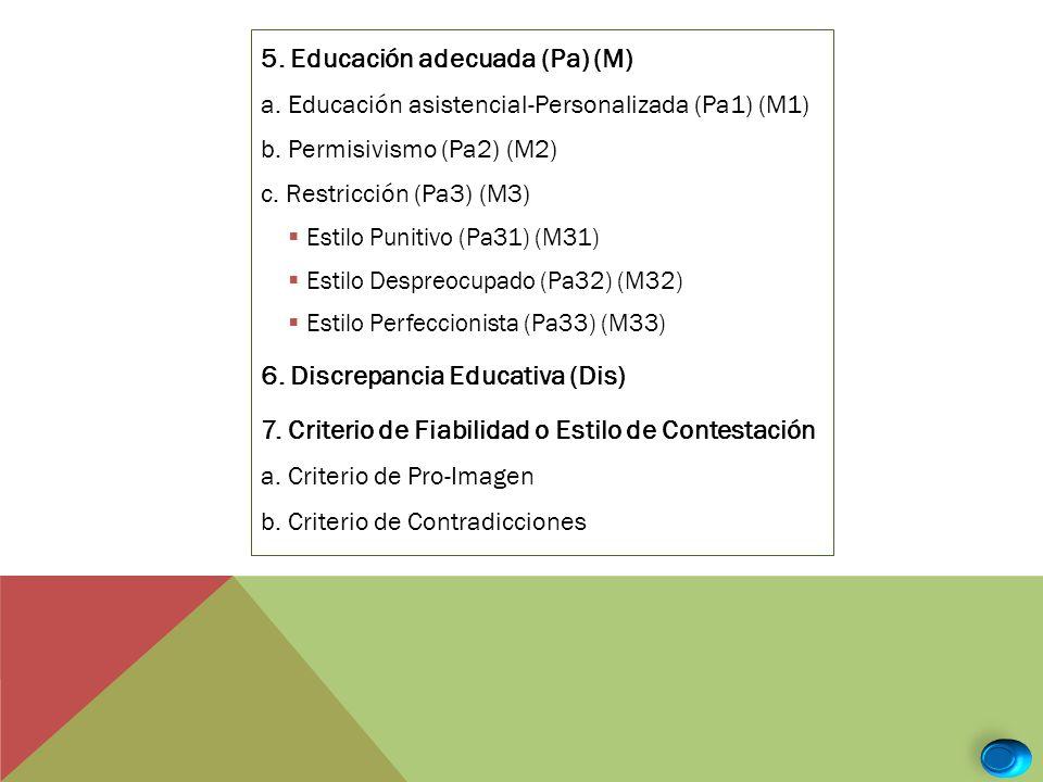 5. Educación adecuada (Pa) (M)