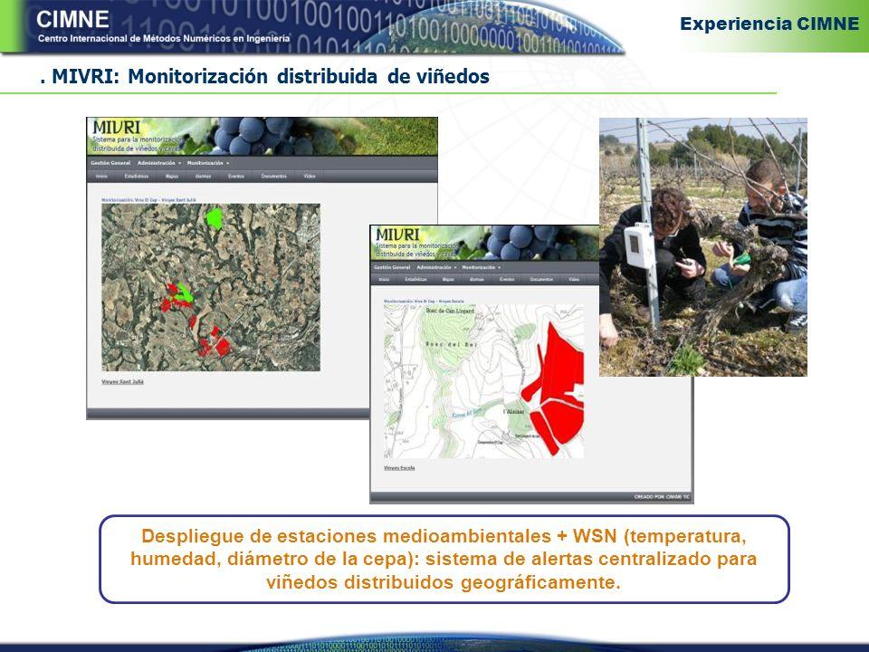 . MIVRI: Monitorización distribuida de viñedos