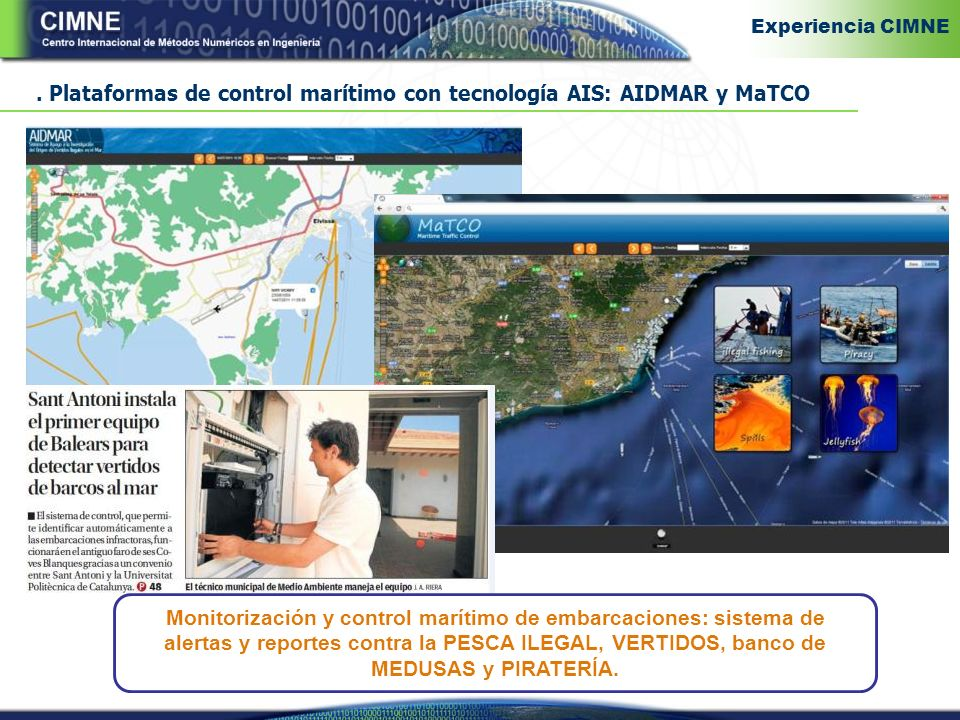 . Plataformas de control marítimo con tecnología AIS: AIDMAR y MaTCO