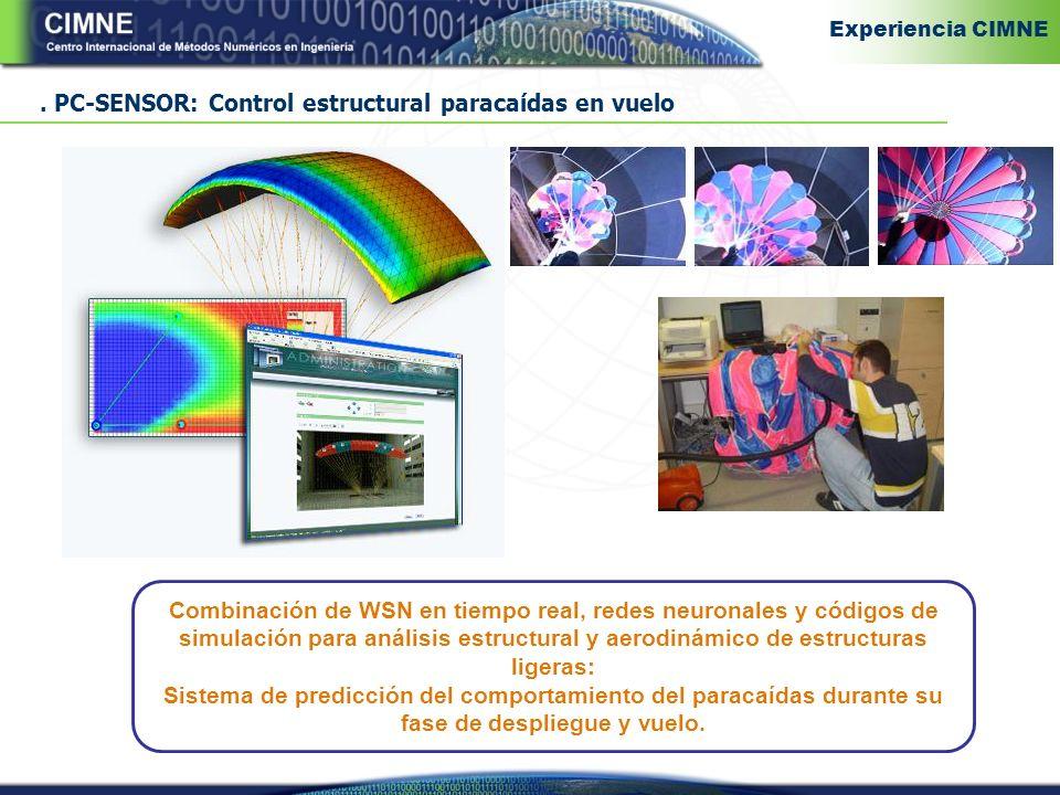 . PC-SENSOR: Control estructural paracaídas en vuelo
