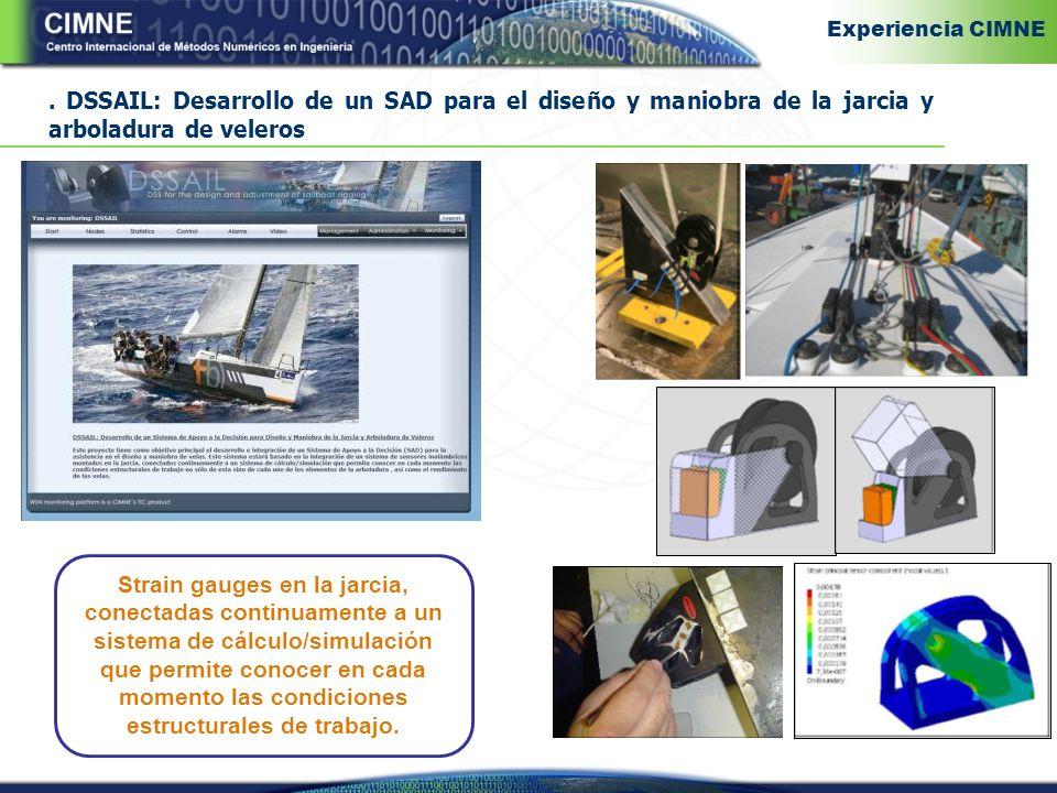 Experiencia CIMNE . DSSAIL: Desarrollo de un SAD para el diseño y maniobra de la jarcia y arboladura de veleros.
