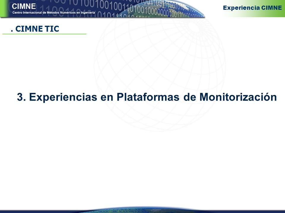 3. Experiencias en Plataformas de Monitorización