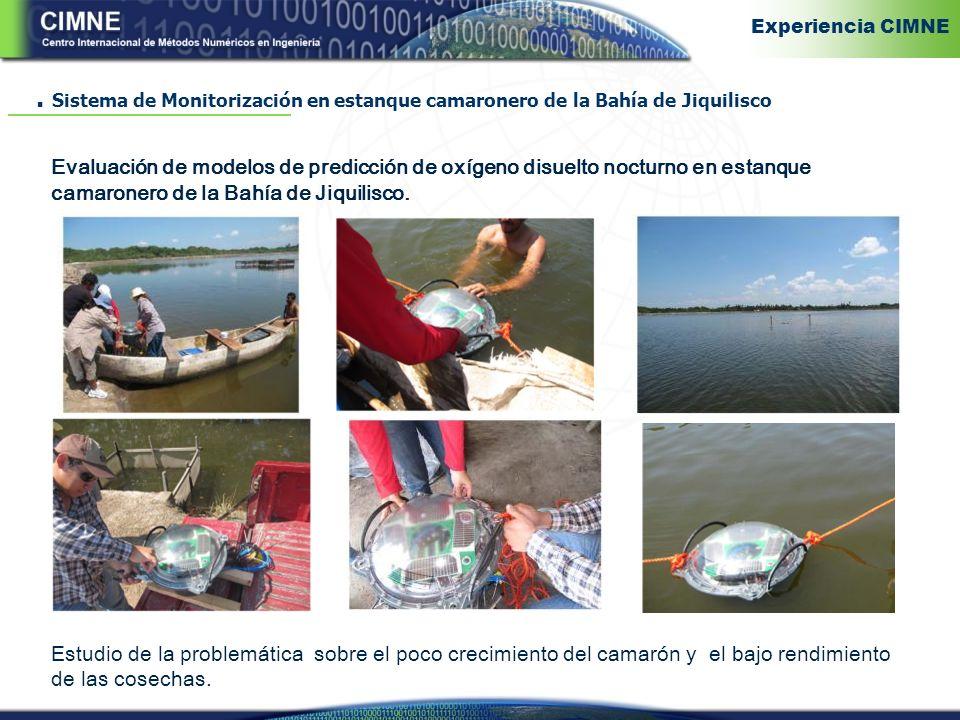Experiencia CIMNE . Sistema de Monitorización en estanque camaronero de la Bahía de Jiquilisco.