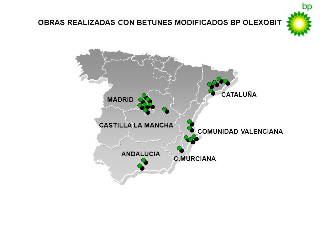 OBRAS REALIZADAS CON BETUNES MODIFICADOS BP OLEXOBIT