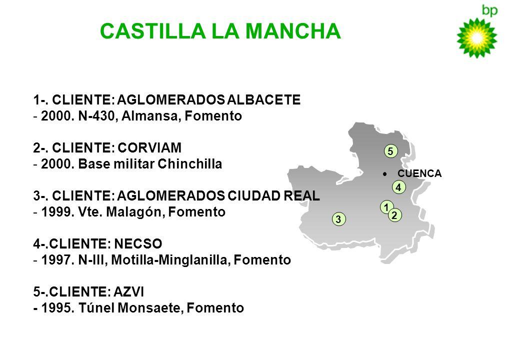 CASTILLA LA MANCHA 1-. CLIENTE: AGLOMERADOS ALBACETE