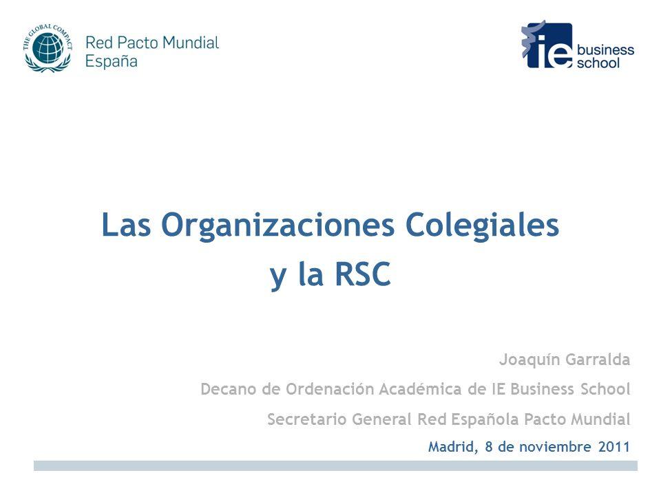 Las Organizaciones Colegiales