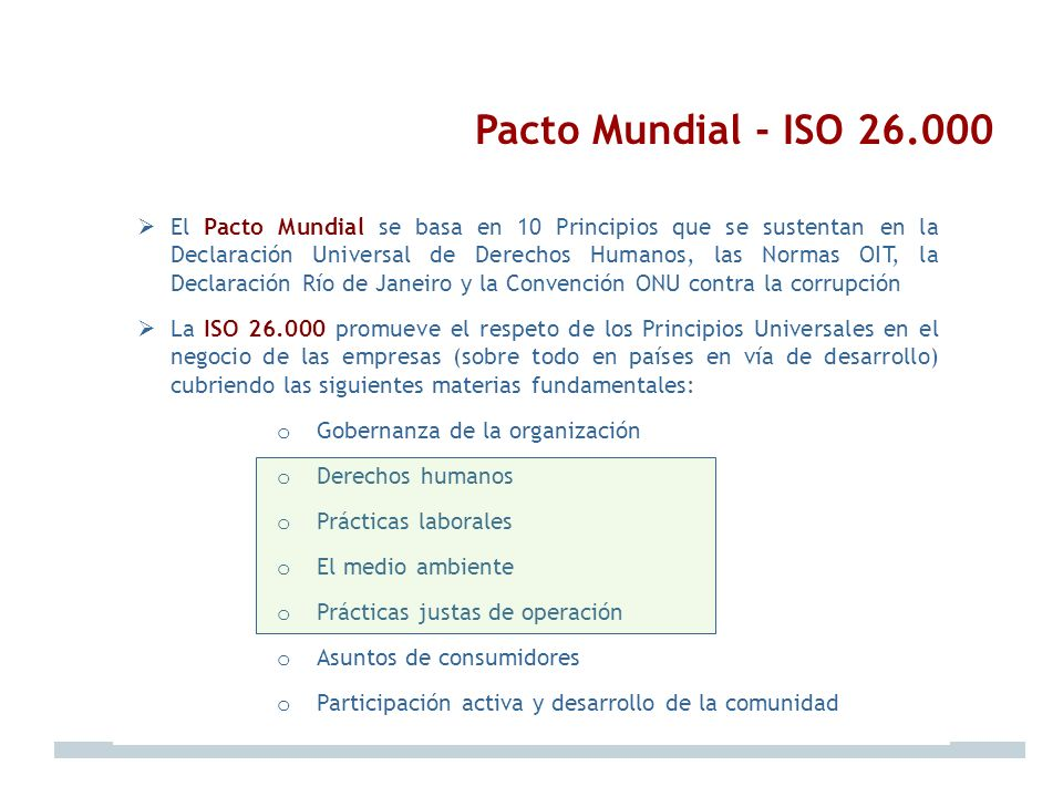 Pacto Mundial - ISO