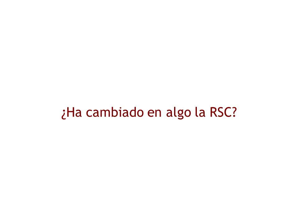 ¿Ha cambiado en algo la RSC