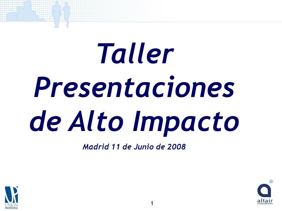 Taller Presentaciones de Alto Impacto