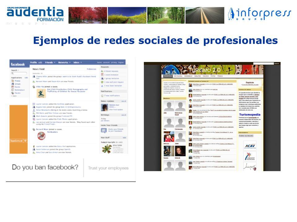 Ejemplos de redes sociales de profesionales