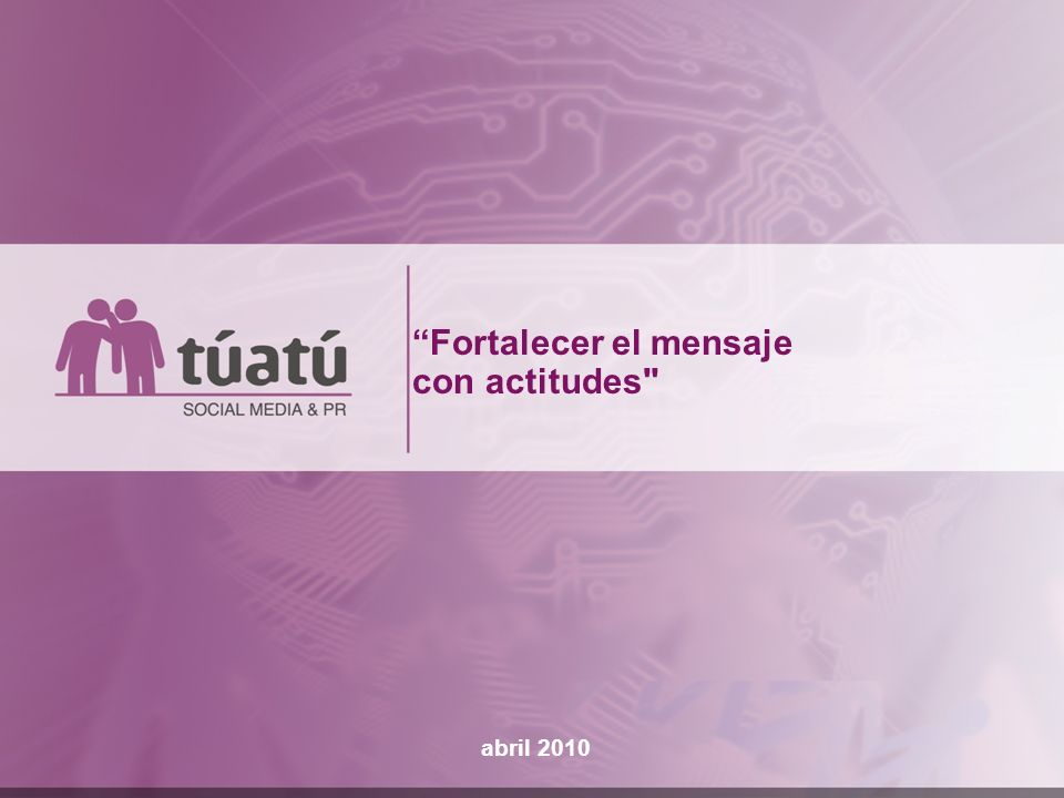 Fortalecer el mensaje con actitudes
