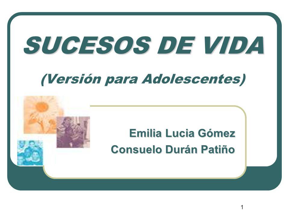 SUCESOS DE VIDA (Versión para Adolescentes)