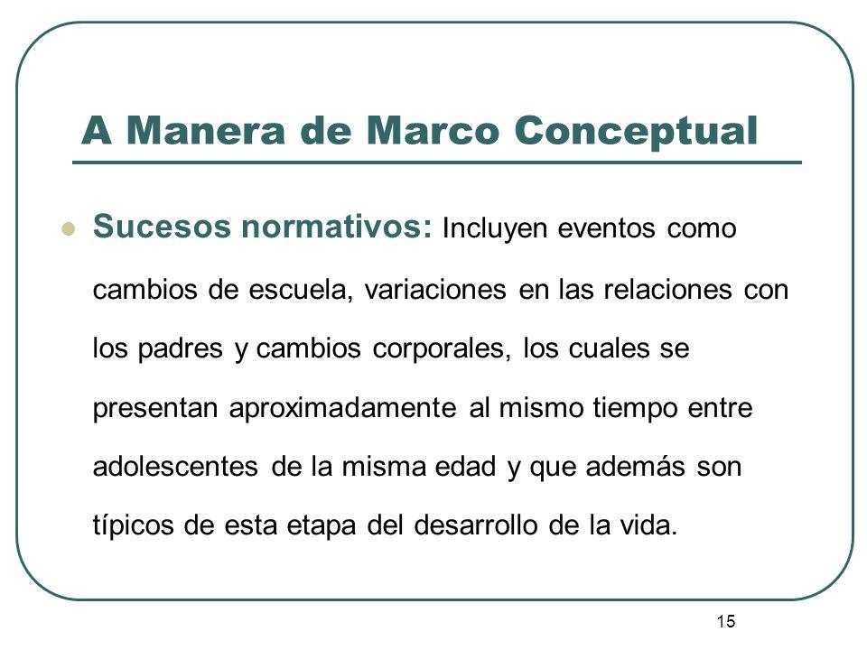 A Manera de Marco Conceptual
