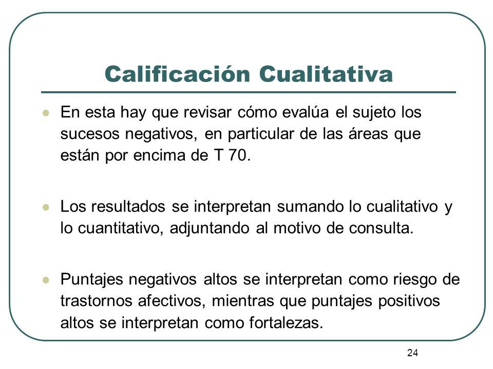 Calificación Cualitativa