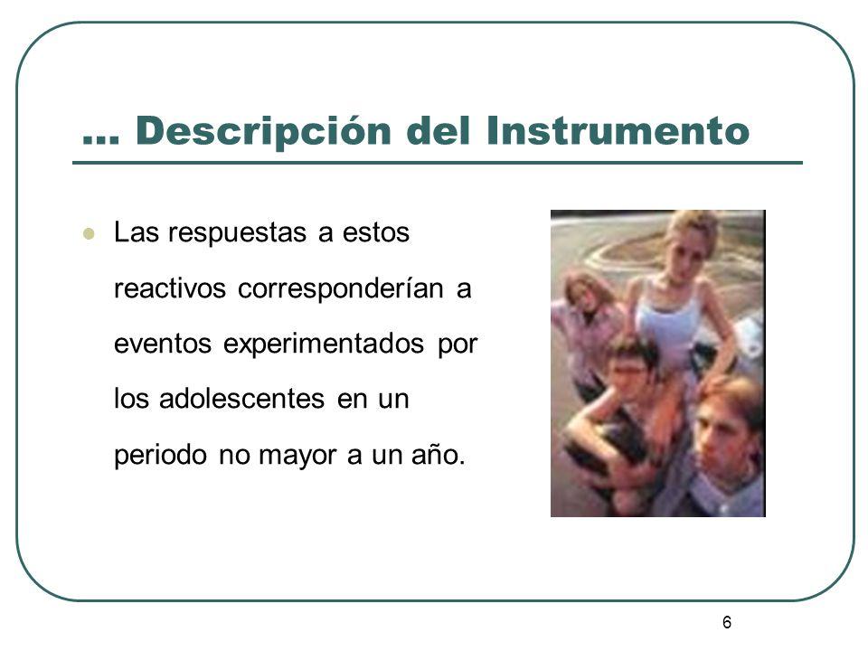 … Descripción del Instrumento