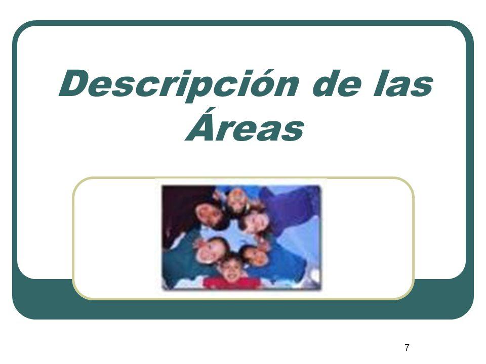 Descripción de las Áreas