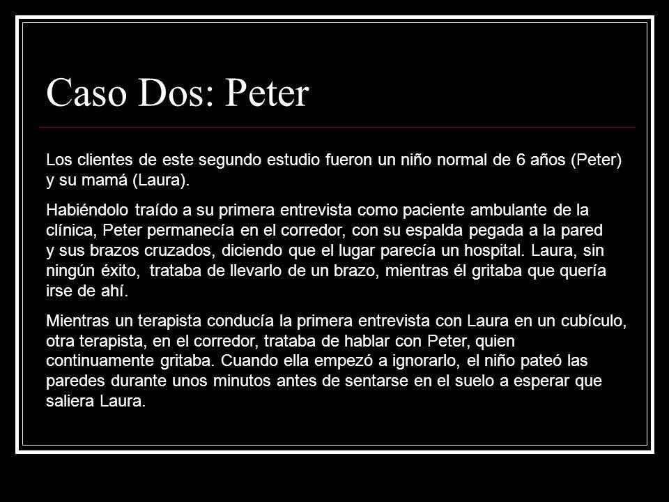 Caso Dos: Peter Los clientes de este segundo estudio fueron un niño normal de 6 años (Peter) y su mamá (Laura).