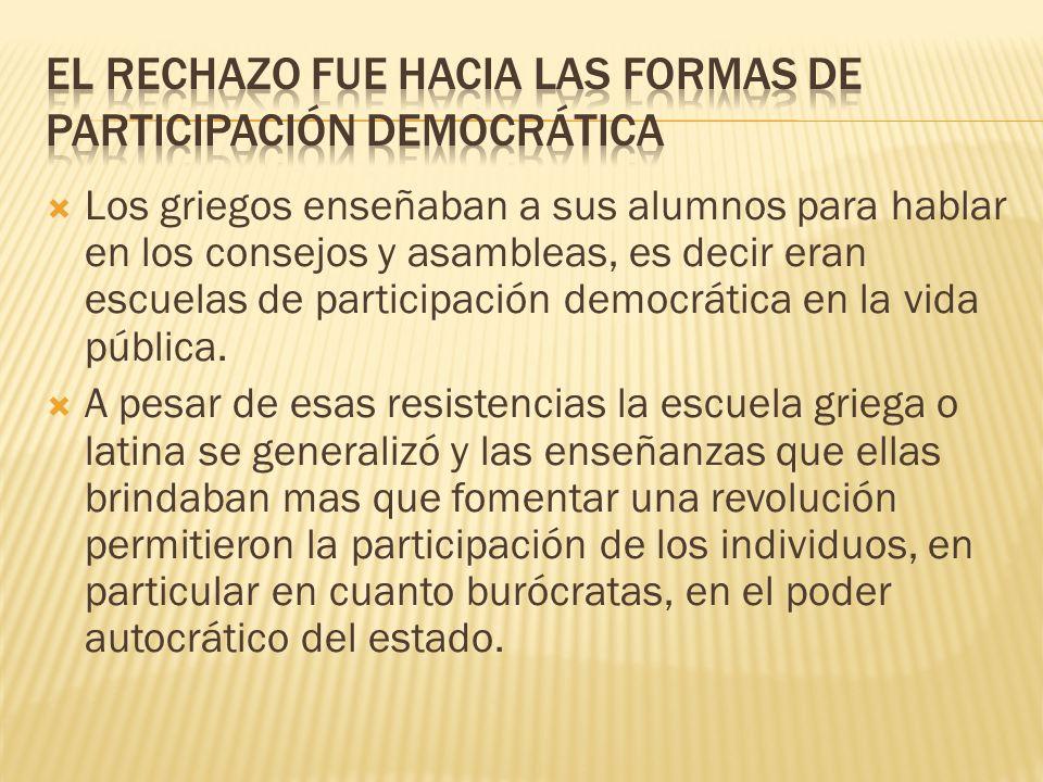 EL RECHAZO FUE HACIA LAS FORMAS DE PARTICIPACIÓN DEMOCRÁTICA