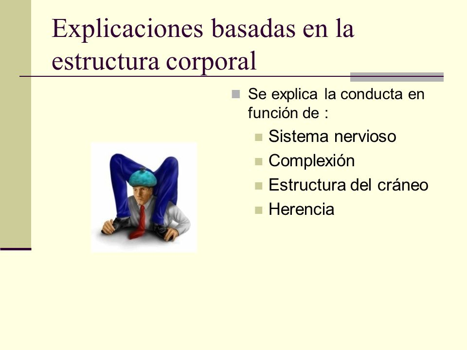 Explicaciones basadas en la estructura corporal