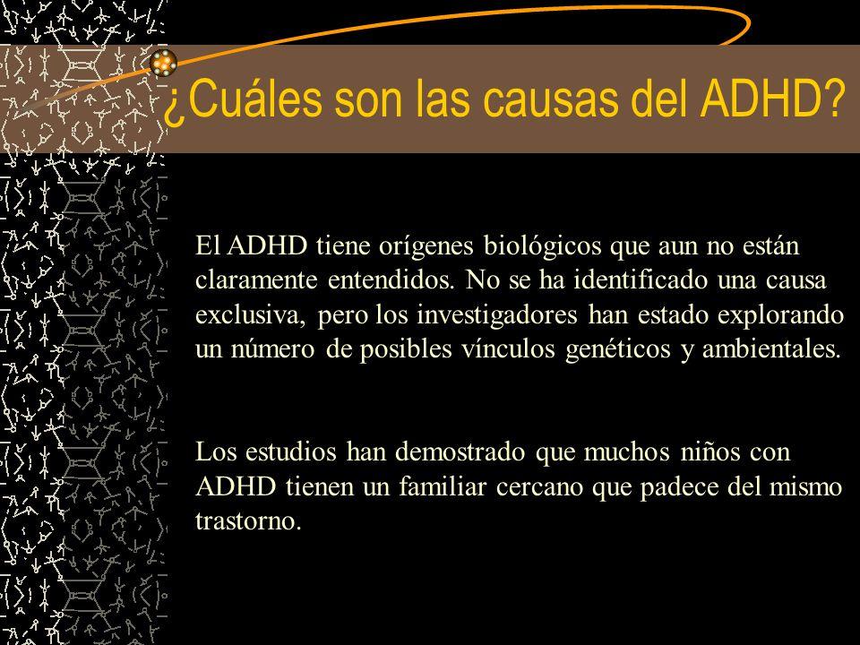 ¿Cuáles son las causas del ADHD
