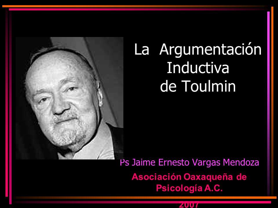 La Argumentación Inductiva de Toulmin