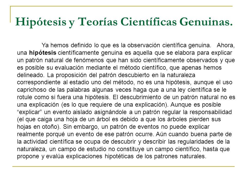 Hipótesis y Teorías Científicas Genuinas.
