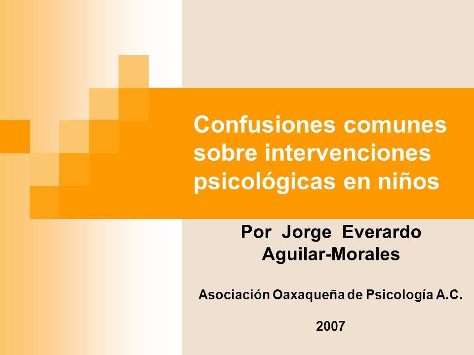 Confusiones comunes sobre intervenciones psicológicas en niños