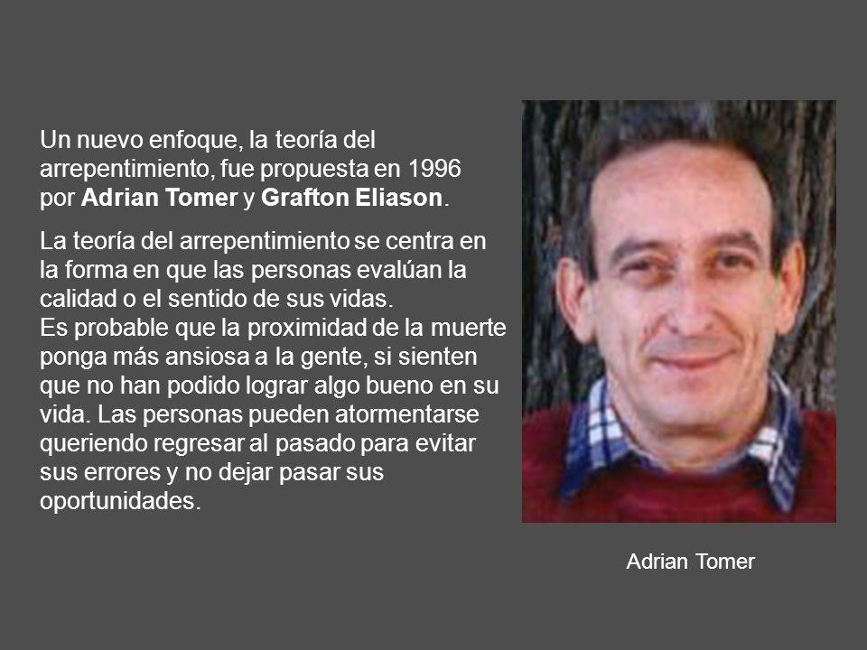 Un nuevo enfoque, la teoría del arrepentimiento, fue propuesta en 1996 por Adrian Tomer y Grafton Eliason.