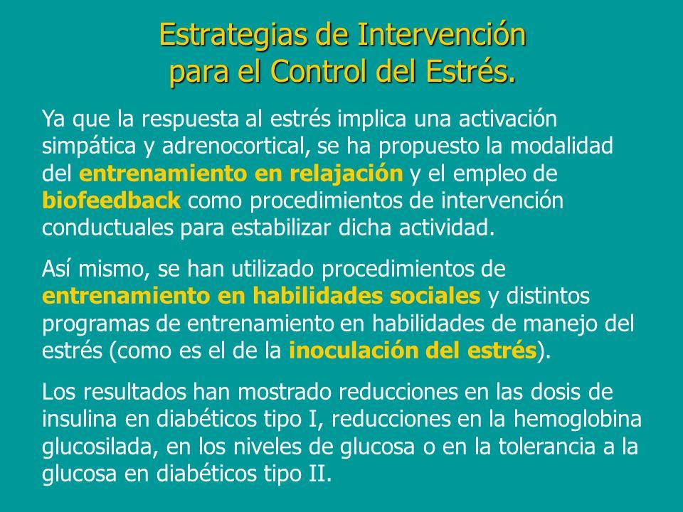 Estrategias de Intervención para el Control del Estrés.