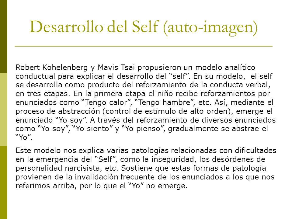 Desarrollo del Self (auto-imagen)