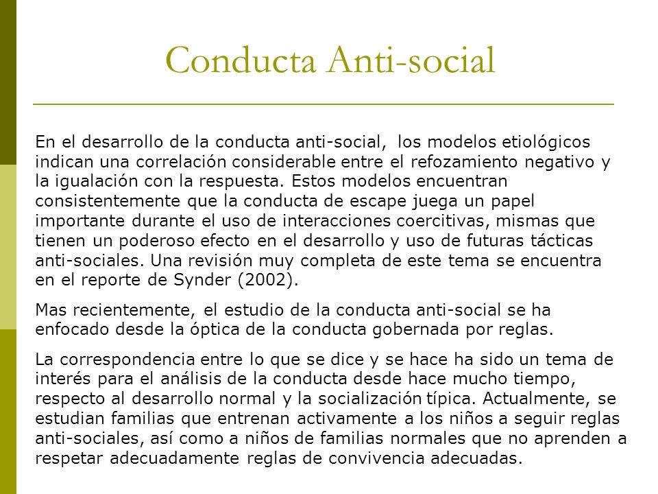 Conducta Anti-social