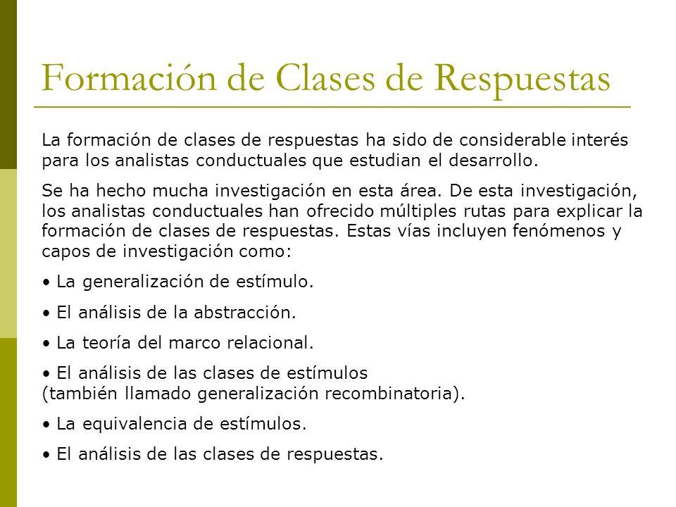 Formación de Clases de Respuestas