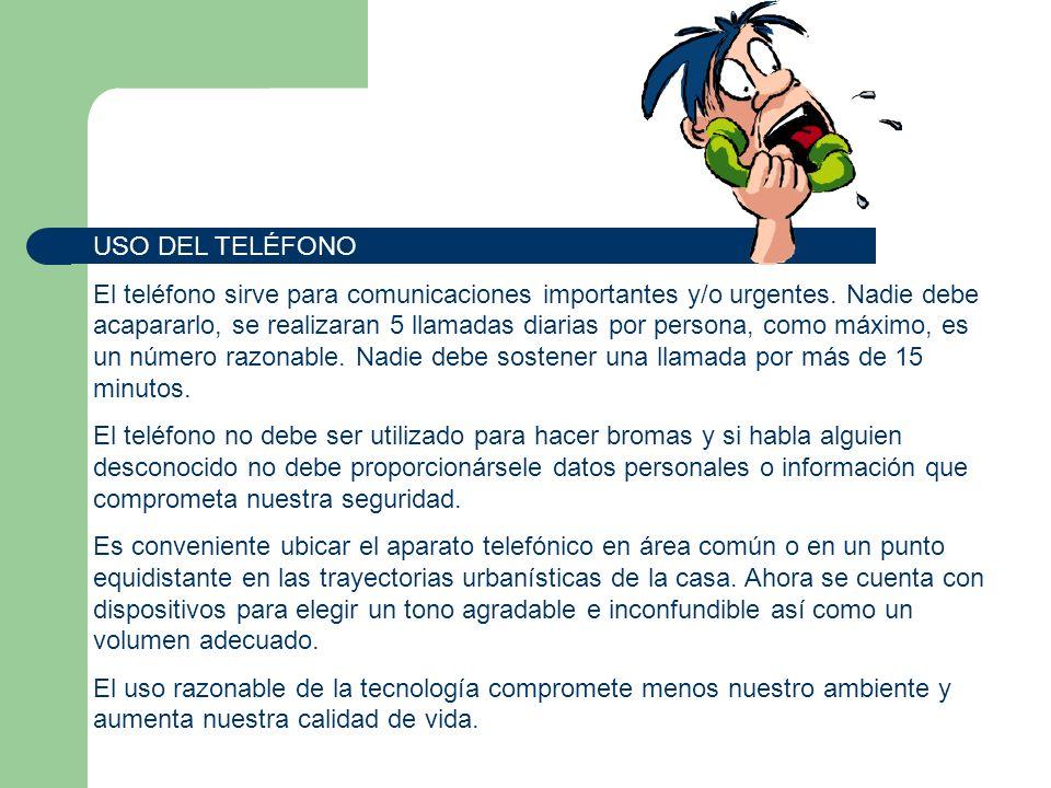 USO DEL TELÉFONO
