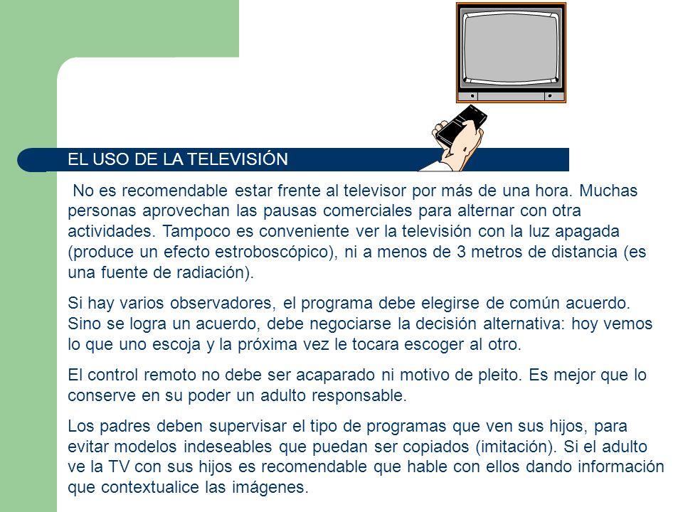 EL USO DE LA TELEVISIÓN