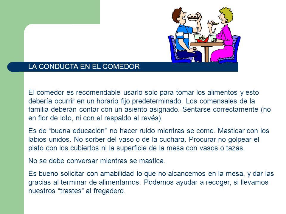 LA CONDUCTA EN EL COMEDOR