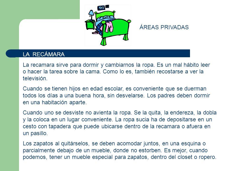 ÁREAS PRIVADAS LA RECÁMARA.