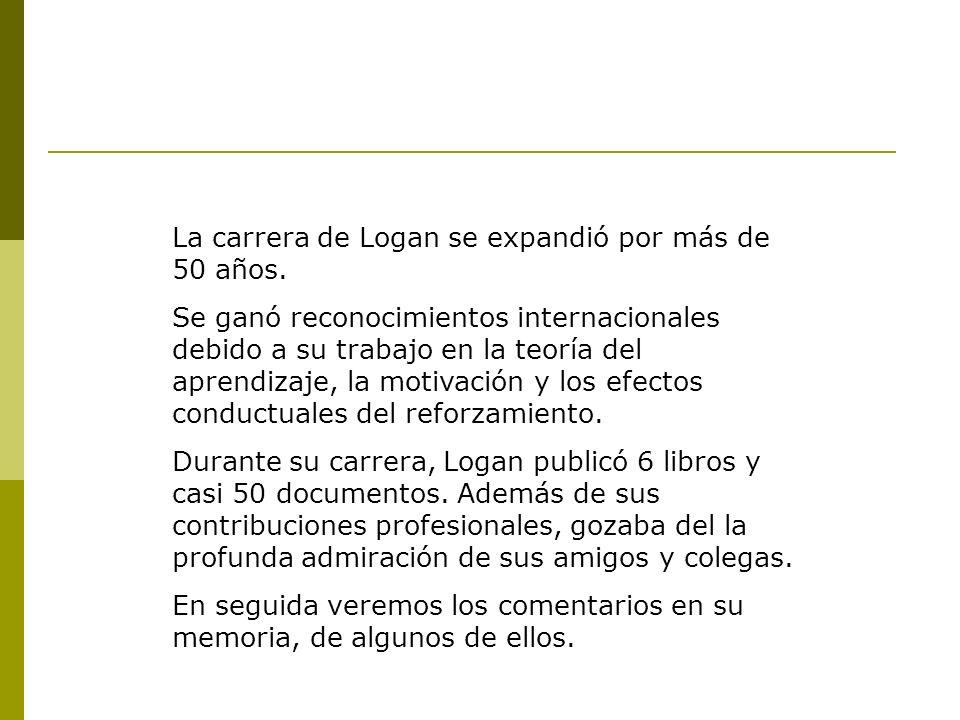 La carrera de Logan se expandió por más de 50 años.