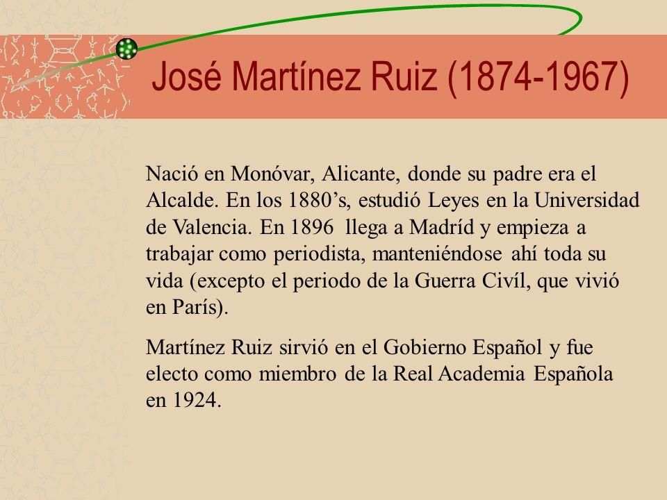 José Martínez Ruiz (1874-1967)