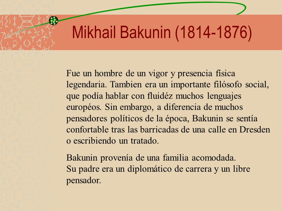Mikhail Bakunin (1814-1876)